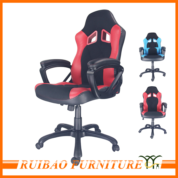 Modern High Quality Office Furniture Back Support Cushion Patent Leather Chairs