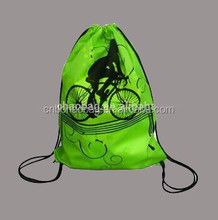 Full color printing all over Customized logo printed sublimation drawstring bag