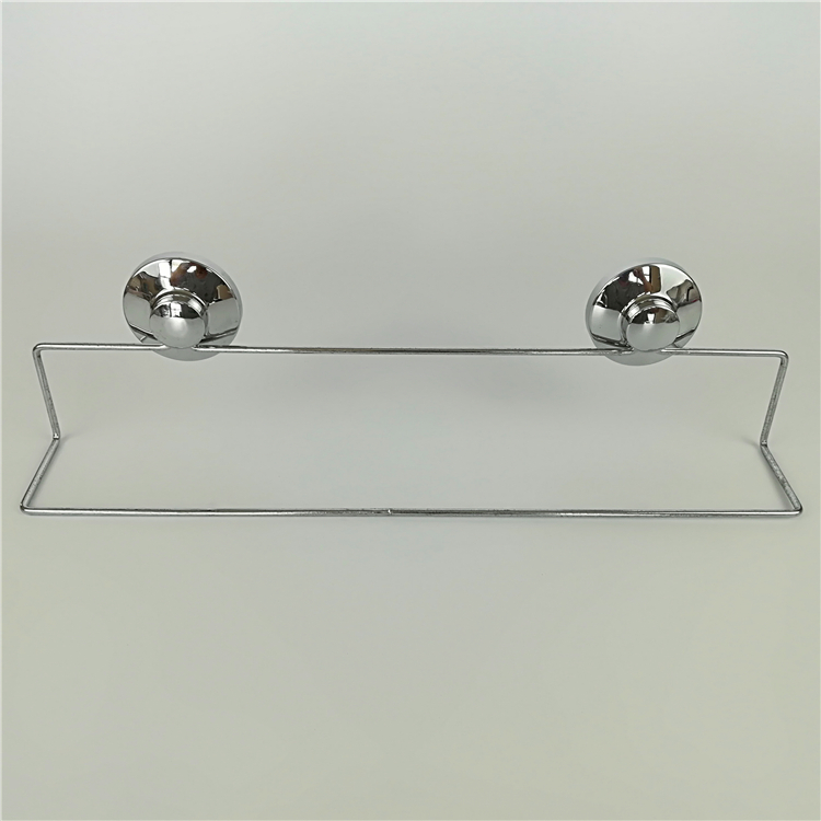 SIMPLE SUCKER CUP WALL MOUNTED CHROME PLATED METAL WIRE BATHROOM TOWEL RACK