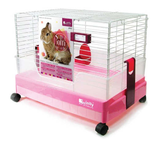 Wholesales Trendy Indoor Moving Rabbit Cage with Wheel