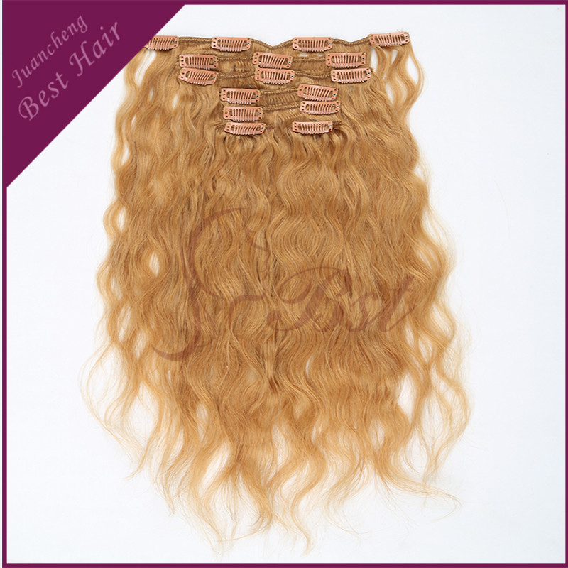 100% Brazilian Hiar Weave Human Hair Extension, 6A Top Quality Brazilian Clip in Remy Human Hair Extensions