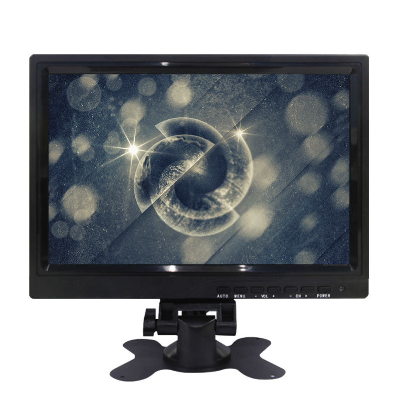 Good price wall mount 1280*800 OS linux support 10 inch touch screen monitor ips with stand