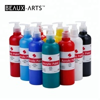 Non-Toxic 500ml Acrylic Paint Bulk Set Best for Paint and Sip Studio