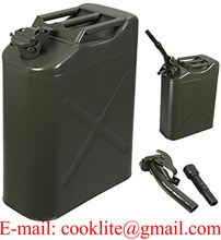 20L American / NATO Metal Fuel Can / UN Certified Military Jerry Can