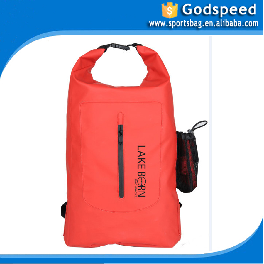 PVC tarpaulin swimming backpack, custom logo waterproof ocean pack