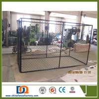 Beautiful Chain link double dog kennel lowes /dog kennel buildings for sale