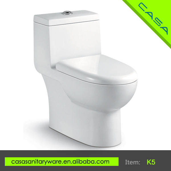 Siphonic or washdown ceramic oval one piece chemical toilets for sale