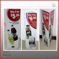 plastic sign board poster stand/plastic corflute sign/corrugated plastic sign
