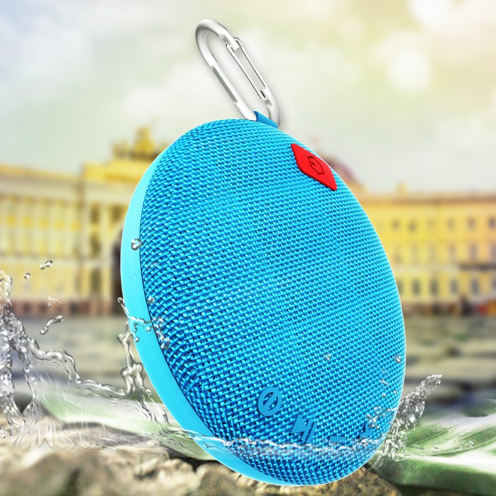 Ozzie Mini Wireless Stereo Bluetooth 3.0 Waterproof Outdoor & Shower Portable Mobile Bluetooth Speaker Built-in 800mAh Battery