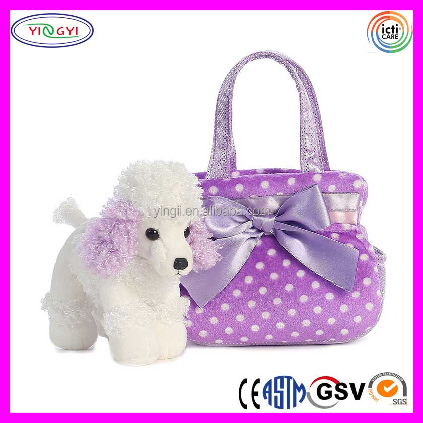 B756 Luxury Soft Pet Carrier Bags Dog Plush Purple Pet Carriers for Sale