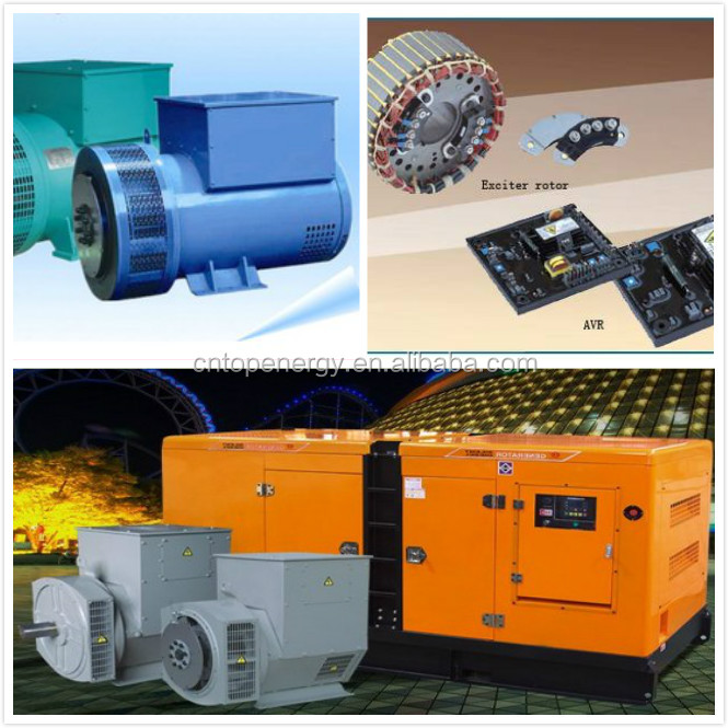 Brushless stamford weichai linz generator 220v - 440v auto pulley alternator set manufacturer prices (5kw - 500kw)