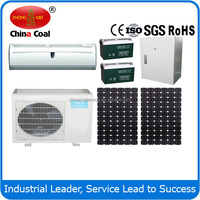 solar air conditioners 100% DC 12V 12000BTU wall mounted split air conditioner