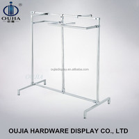 clothes display rack/clothing hang rail/metal store furniture