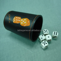 High quality PU leather dice cup