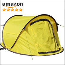 Water Resistant D-Style Door, 4-Person Camping/Traveling Family Dome Tent with Carry Bag