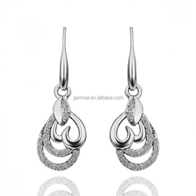 Factory direct fashion sterling silver european style earrings on sale