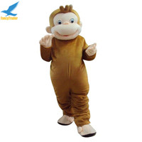Life Size Curious George Funny Monkey Adult Movable Mascot Costume for party