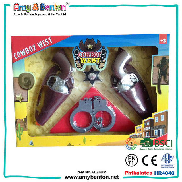 New Arrival Funny Plastic Cowboy Gun Toys for Kids