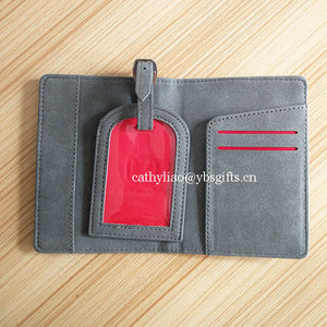 cheap promotional passport cover passport holder and luggage tag set