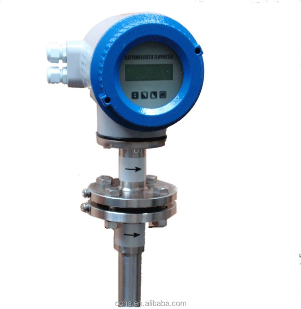 Water Flow Meter : Insertion type electromagnetic water flow meter buy