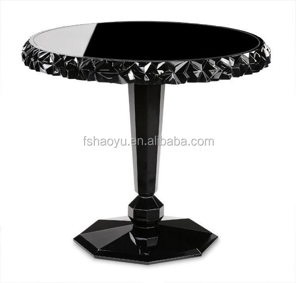 neoclassical european style corner tea table/wooden tea table/European style tea table