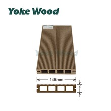 Alibaba China Supplier 2017 New Cheap WPC Decking Engineered Wood Plastic Hollow Flooring