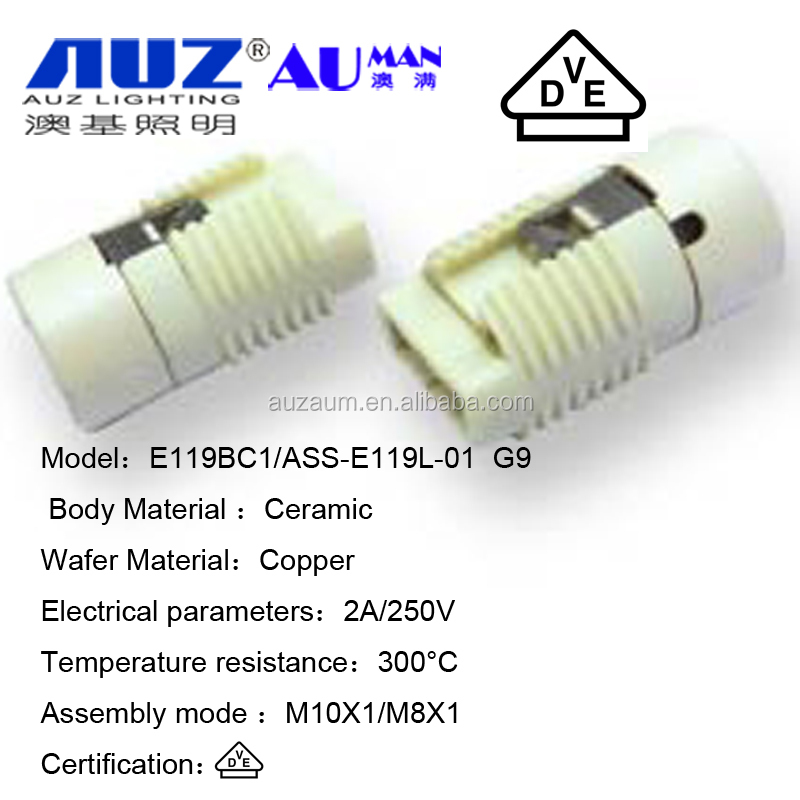 wholesale outlet 250V ceramic g9 lamp base ,ceramic lamp base G9