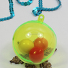 Hot sell Clear Plastic 2 Part Baubles for Christmas Decoration