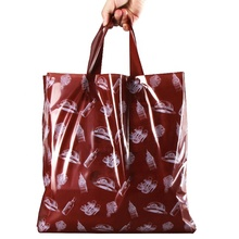 In stock brown fashion shopping bags custom <strong>logo</strong> carry bag clear plastic shopping bag