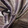 China New Embossed Snake Skin Leather