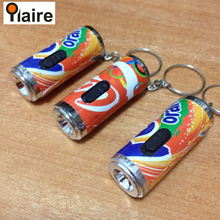 Aluminum unusual projector keyrings with led decorative mini lights