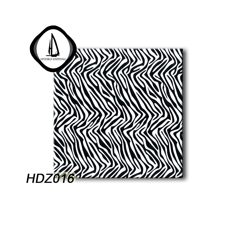 Water transfer printing film decorative pattern HDZ016 zebra skin pattern liquid image 0.5M width hydro dipping film