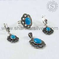 Alexandrite Stone Silver Jewelry, Silver Jewelry, Indian Silver Jewelry S-4SCC1002-3