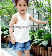New Fashion Baby Short Dress Jeans Young Girls In Mini Leather Skirts