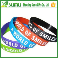 Eco-Friendly Good Sale Debossed Ink Filled Silicone Wristband