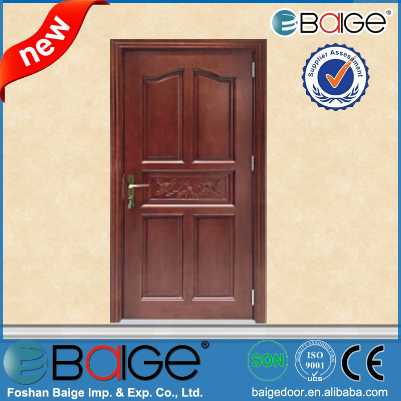 Bg sw9102 modern solid wood timber exterior door solid for Solid core flush door price