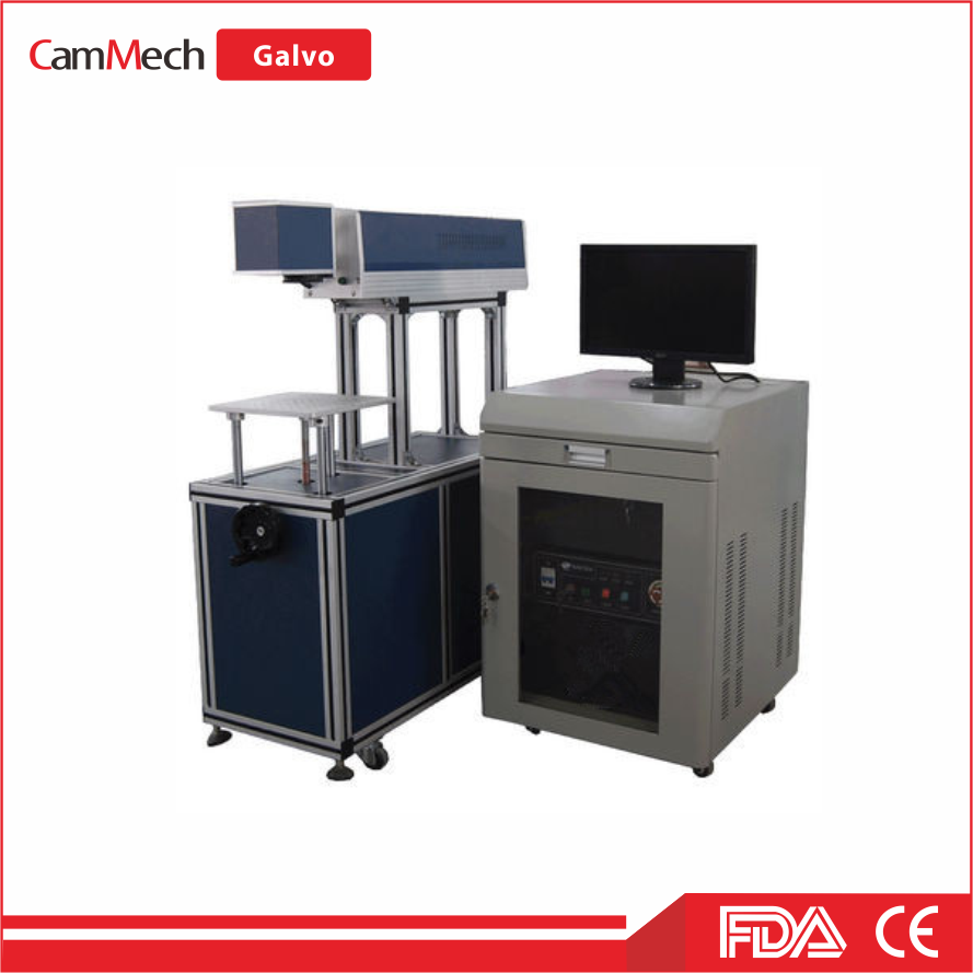 Best price CO2 galvo laser cutting and engraving machine for leather