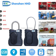 GPS/GSM/RFID container padlock lock tracker with remote control door lock alarm