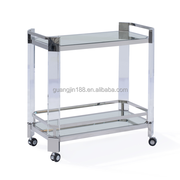 gold food serving trolley