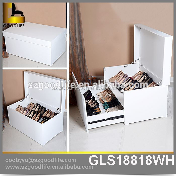 wooden shoe cabinet Apartment Furniture black color small hanging shoe organizer Gold supplier