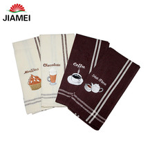 Kitchen textile high quality cheap tea towels , custom embroidery cheap tea towels