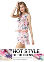 2016 Summer Sexy Hot Selling Fashion Women Dress Maxi Dress flower dresses