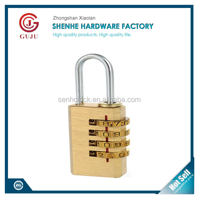Baggage, Luggage Solid Brass Combination Padlock, Number Lock