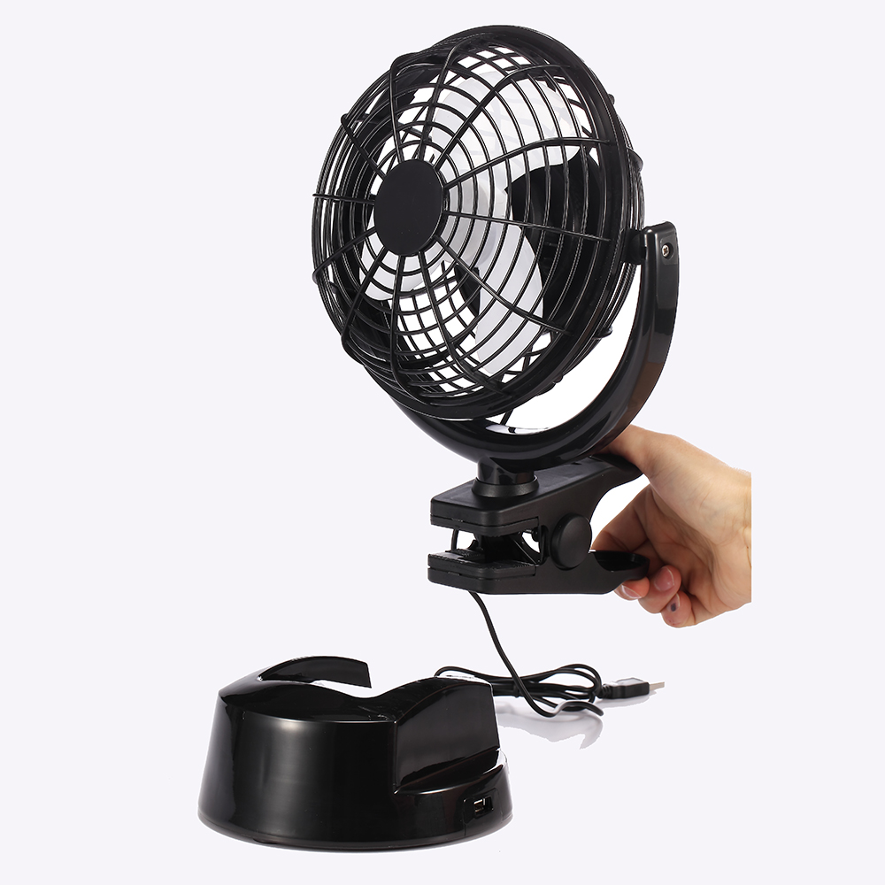 "6"" AA Battery 5V DC Plastic Stand Small Desk Fan,6 Inch Portable Table USB Powered Mini Clip on Fan"