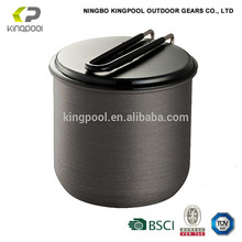 1L 1.3L 2L Light Weight Available Outdoor Pot Hard Anodized Aluminium Camping Cooking Pot With Lid