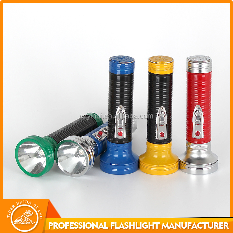 Super bright long distance colorful metal LED flashlights