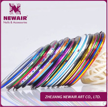 Wholesale Nail Decoration Sticker design Colorful Nail Art Stripping Tapes