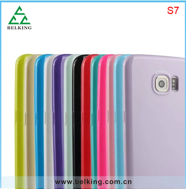 For Samsung Galaxy S7 Solid Candy Color TPU Case, Soft Mobile Phone Case For Samsung S7 TPU