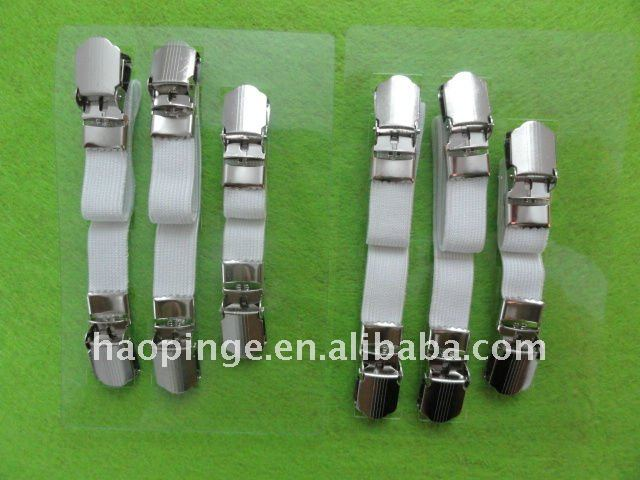 Bed Sheet Fasteners Suspenders 4 Packs of Sheet Suspenders Gripper Holders Elastic Straps Clips for Various Mattress Covers