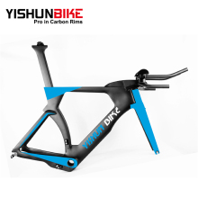 OEM 2018 YISHUN 700C TT bike carbon BB386 frame 48/51/54/57cm Time Trial bicycle full internal aero racing hot frameset LTT004